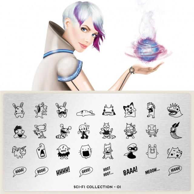Moyou印花模板 Sci-Fi01