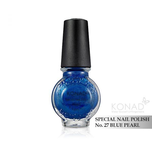 Konad 印花油 no.27 Blue Pearl