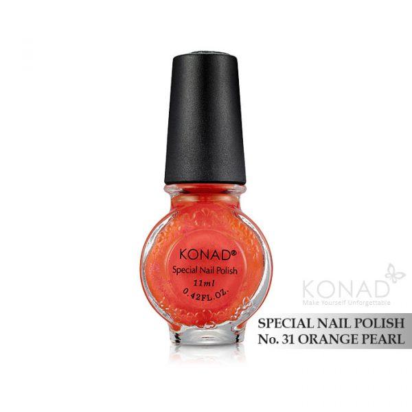 Konad 印花油 no.31 Orange Pearl
