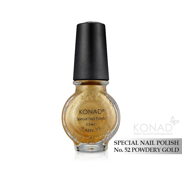Konad 印花油 no.52 Powdery Gold