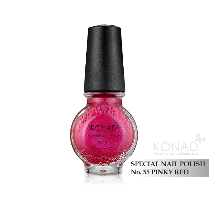 Konad 印花油 no.55 Pinky Red